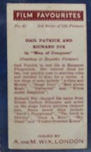 Gail Patrick and Richard Dix movie Cards