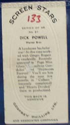Screen Star Dick Powell Movie Card,