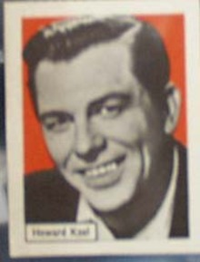 Howard Keel Record Label card, 1950s