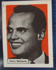 Harry Belafonte Record Label card, 1950s