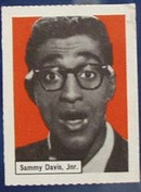 Sammy Davis JR Record Label card, 1950s