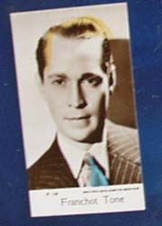 Franchot Tone Movie card,