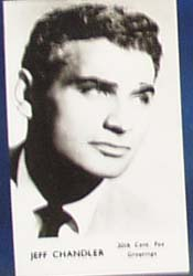 Jeff Chandler Movie card,