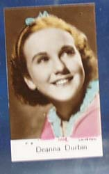 Deanna Durbin Movie card