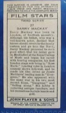 Barry Mackay Film Stars Movie Card