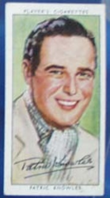 Patrick Knowles Film Stars Movie Card,