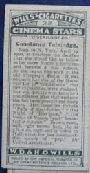 Constance Talmadge Film Stars Movie Card