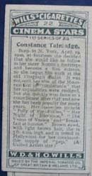 Constance Talmadge Film Stars Movie Card