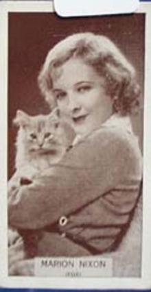 Marion Nixon Film Stars Movie Card