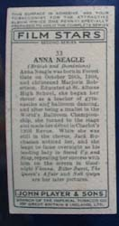 Anna Neagle Film Stars Movie Card