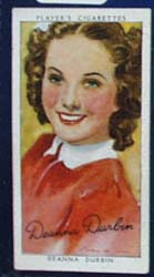 Deanna Durbin Film Stars Movie Card