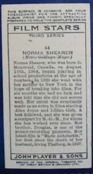 Norma Shearer Film Stars Movie Card