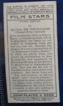 Olivia De Havilland Film Stars Movie Card
