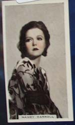 Nancy Carroll Stage and Cinema Beauty Card 1933