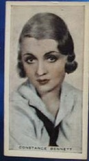 Constance Bennett Stage and Cinema Beauty Card 1933,