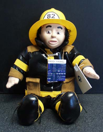 Freddy Firewall Fireman Computer Friends Doll,