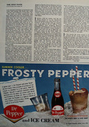 Dr Pepper Frosty Pepper Ad 1964