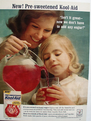 Kool Aid Mother And Daughter And Pitcher Ad 1964