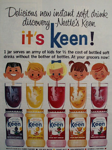Nestles Keen Instant Soft Drink Ad 1964