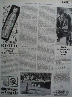 Orange Crush In This Bottle Ad 1930