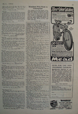 Mead Cycle New Color Catalog Ad 1935