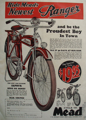 Mead Cycle Be Proudest Boy In Town Ad 1936