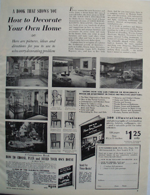 Book How To Decorate Your Home Ad 1946