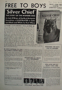 Junior Literary Guild Free Book Silver Chief Ad 1935