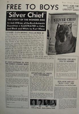 Junior Literary Guild Free Book Silver Chief Ad 1935