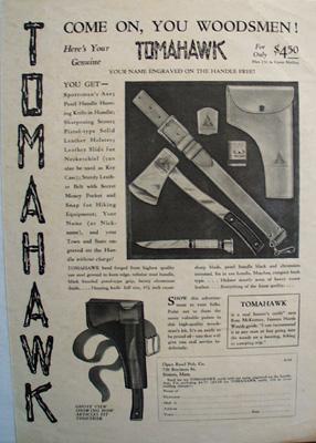 Open Road Tomahawk Ad 1938