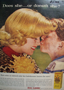 Miss Clairol Hair Color Mother And Son Ad 1958