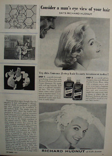 Richard Hudnut Shampoo Mans Eye View Ad 1933