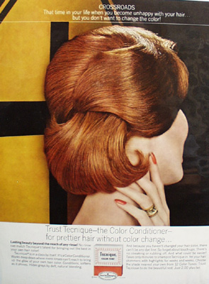 Tecnique Hair Color Conditioner Crossroads Ad  1963