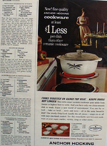 Anchor Hocking Cookware Ad 1964