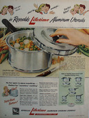 Reynolds Cooking Utensils Two Ladies Talking Ad 1946