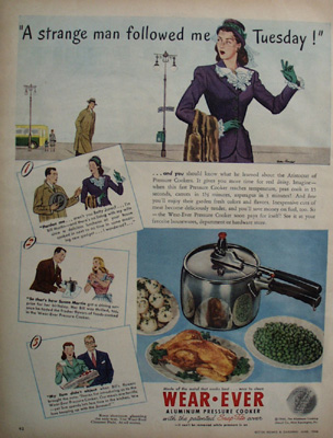 Wear Ever And Strange Man Ad 1946