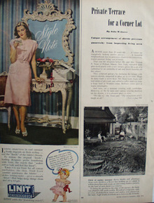 Linit Laundry Starch Woman In Pink Dress Ad 1946
