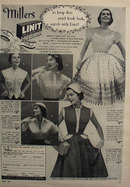 Linit Laundry Starch And Millers Fashions Ad 1951