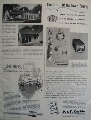 P F Corbin Door Hardware Ad 1946