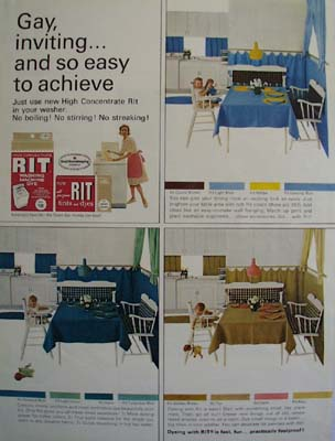 Rit Dye For Dining Room Ad 1964