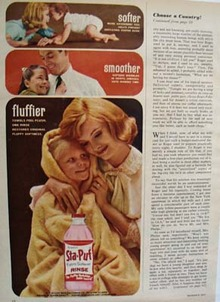 Sta Puf Fabric Softener Mother And Child Ad 1963