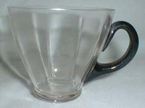Germany Coffee or Punch Cup, Crystal & Black