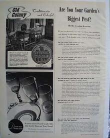Duncan Crystal Teardrop Pattern Ad 1946