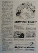Grippers Snap Fasteners Baby Playing Horn Ad 1954