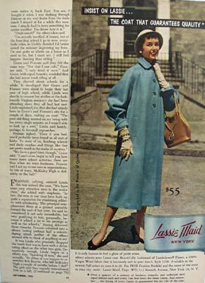 Lassie Maid Coat Photographed In Quebec Ad 1953