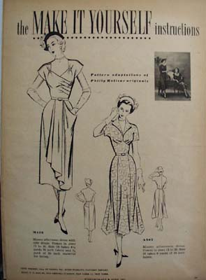 Fashions For Fall 1953 by Welhela Cushman Ad 1953