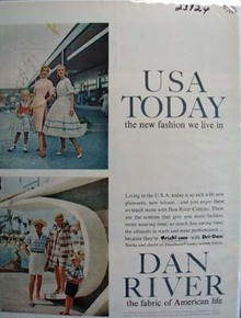 USA Today And Dan River Ad 1958