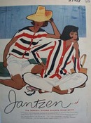 Jantzen Fashion Red White Blue Blazers Ad 1958