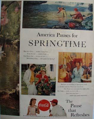 Coca Cola America Pauses For Springtime Ad 1959
