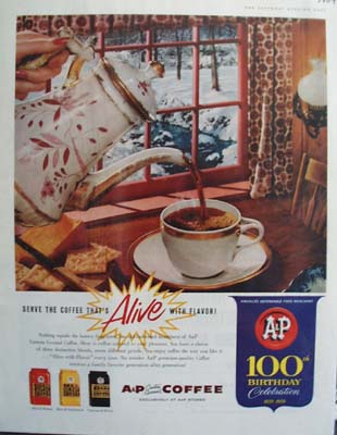 A And P Food Stores 100th Birthday Ad 1959